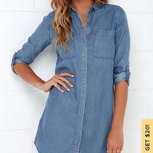 Lulus | Jean Shirt Dress | XS